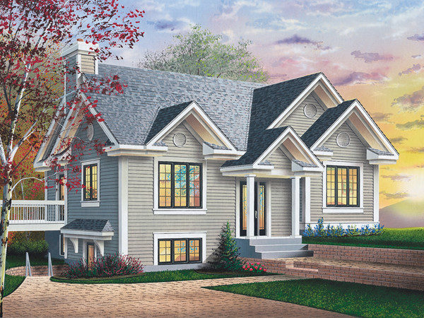Pacific Cliff Sloping Lot Home Plan House