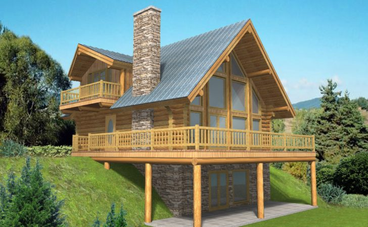 Pacific Northwest Style Log Home Design