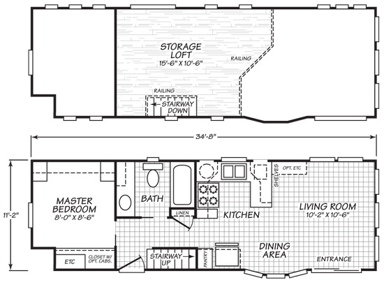 Park Model Tiny House Variety Floor Plans