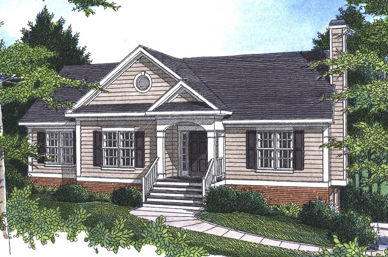 Pecan Island Raised Ranch Home Plan House