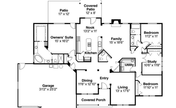 Perfect Ranch Style Home Floor Plans Fairhaven Model