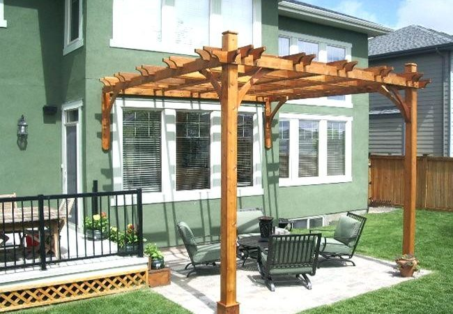 Pergola Attached House Breeze Kit Plans Mathifold