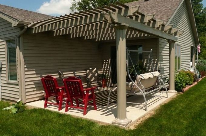 Pergola Attached House Comfortable Transition Home