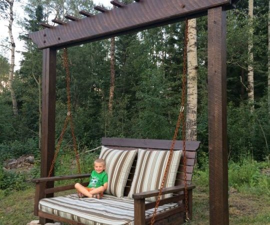 Pergola Swing Day Bed Woodworking Creation
