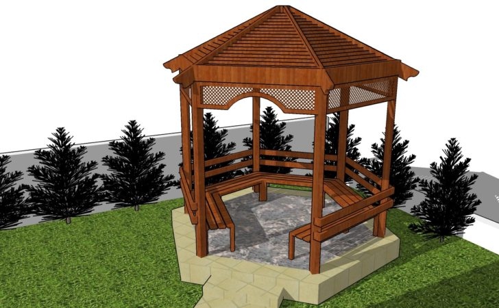 Picnic Shelter Plans Diy Coop Shed Playhouse
