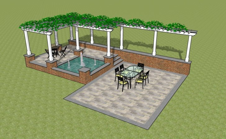Picnic Table Plans Outdoor Pergola