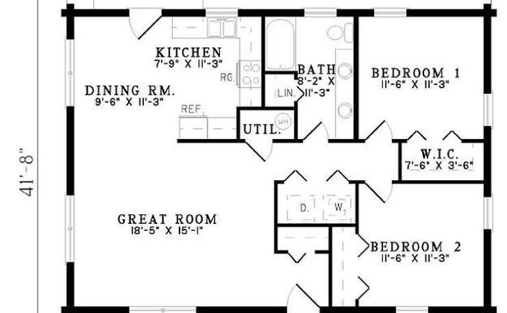 Plan Bedroom Bath Log Home