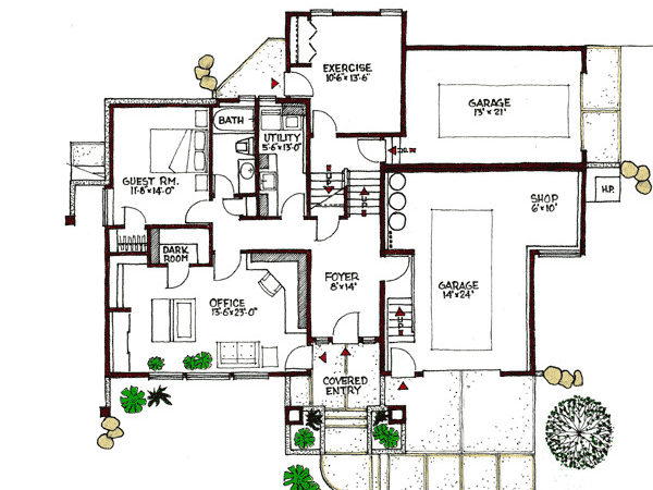 Plan Contemporary Multi Level Architectural
