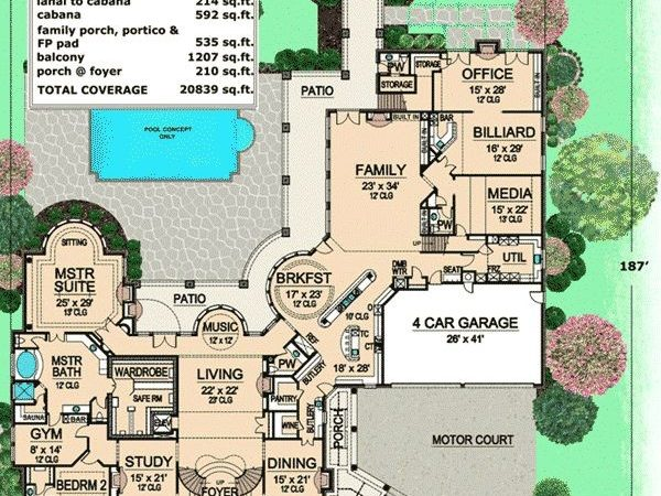 Plan Corner Lot European Luxury House Plans