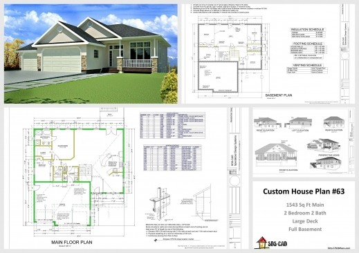 Plan Elevation Section House Ideas