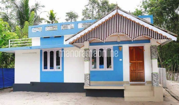 Plan Kerala Style Small House Two Bed Room