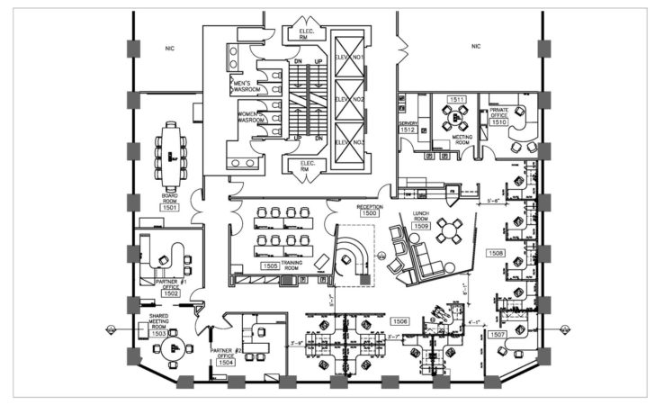 Plan Office Furniture Plans Layout