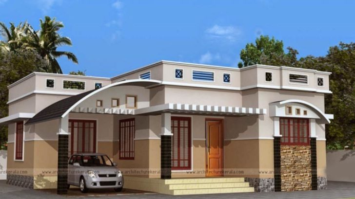 Plan One Floor House Two Bedrooms Square
