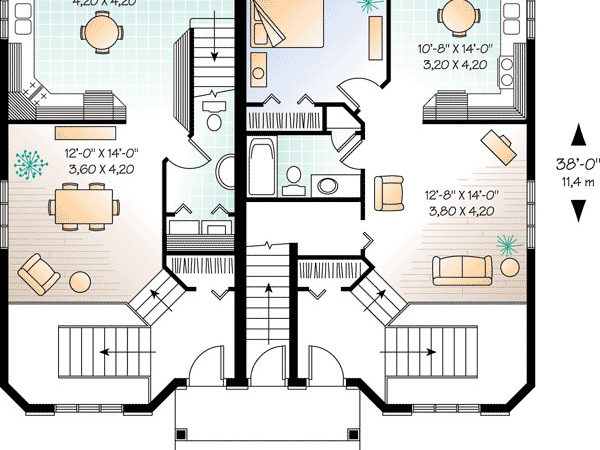 Plan Three Unit Apartment House