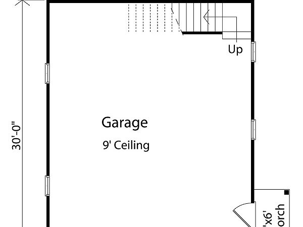 Plan Two Car Garage Loft Storage