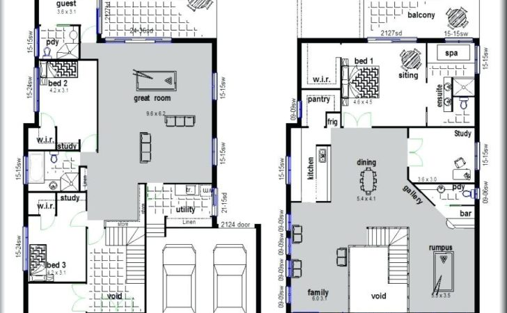 Plan Two Storey House Small Plans