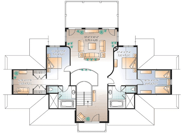 Plan Vacation Beach House Architectural