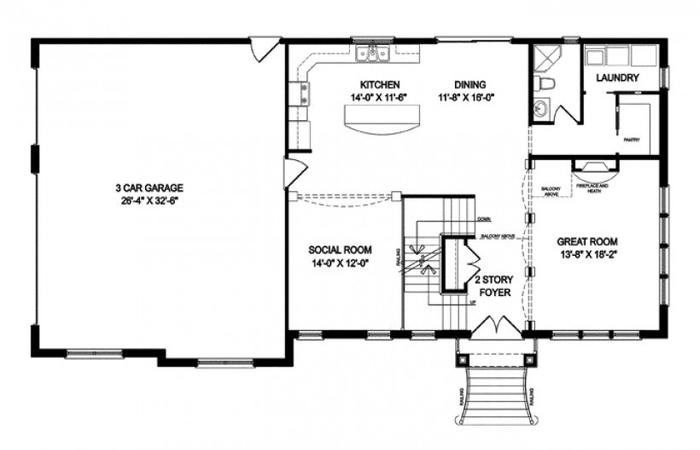 Plans Basement Floor Open House One Story Best Finished