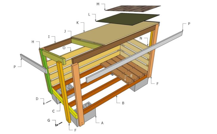 Plans Build Firewood Storage Shed Quick Woodworking