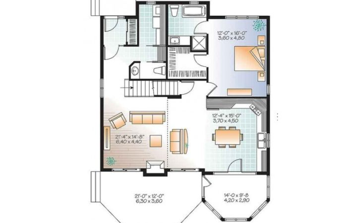 Plans Cottage House Plan Screened