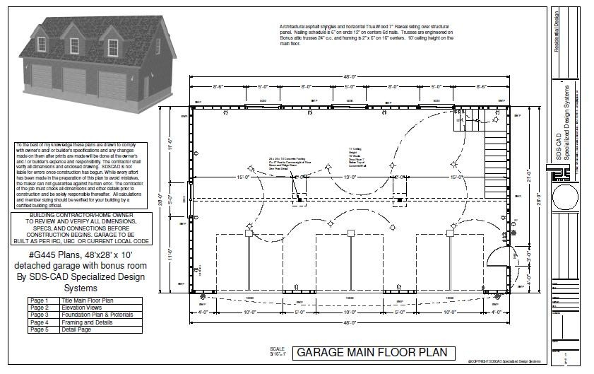 Plans Detached Garage
