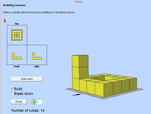 Plans Elevations Wisweb Applets Mathematics