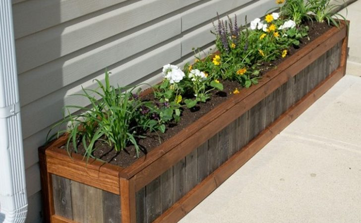 Planter Boxes Made Wooden Pallets Pallet Wood Projects
