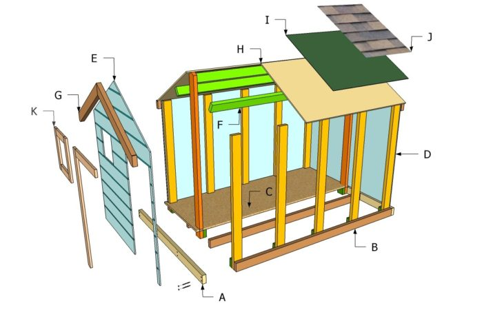 Playhouse Floor Plans Outdoor Diy Shed