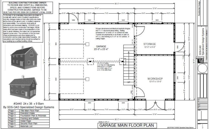 Pole Barn Blueprint Plans