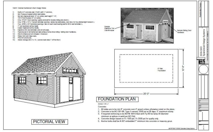Pole Barn Plan Plans