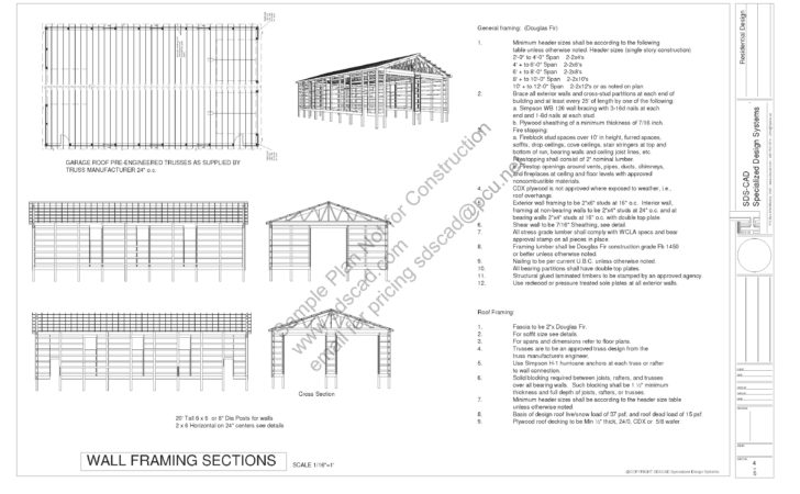 Pole Barn Plans Sds