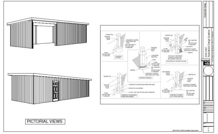 Pole Barn Style Shed Plan Plans