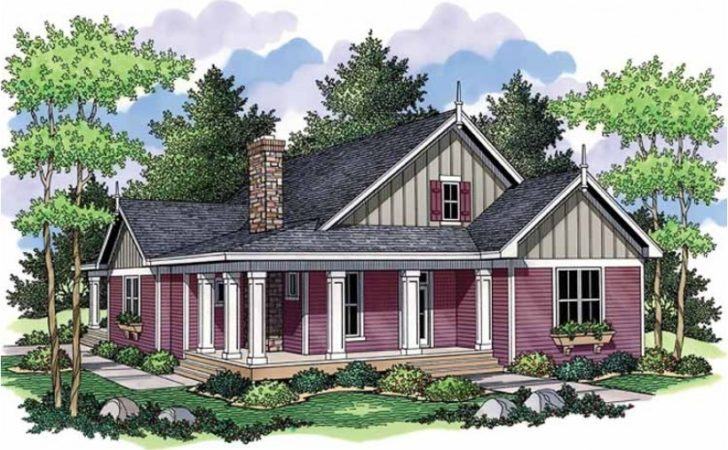 Polished One Story Country Home Hwbdo Cottage