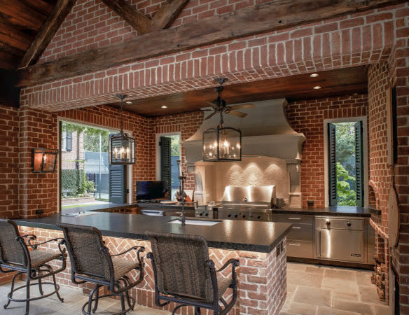 Pool House Outdoor Kitchen