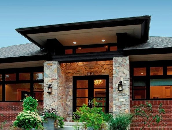 Prairie Style Home Contemporary Detroit