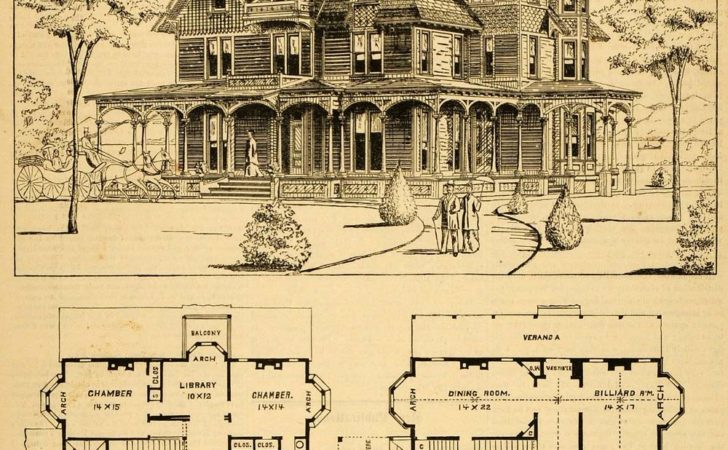 Print Victorian House Architectural Design Floor