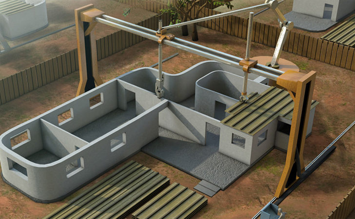 Printer Builds Concrete House Just Hours