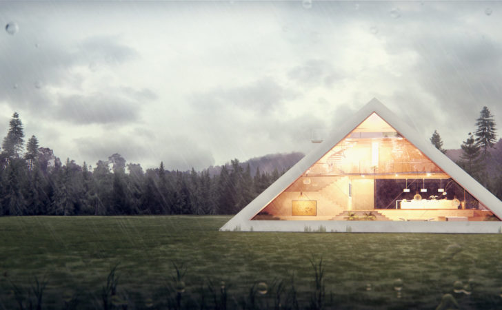 Pyramid House Architectral Visualization Juan Carlos