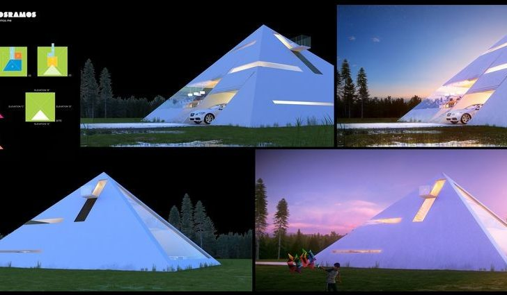 Pyramid Shaped House Makes Feel Like Ancient