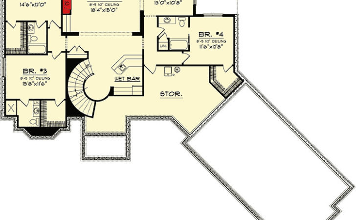 Ranch Home Plan Walkout Basement
