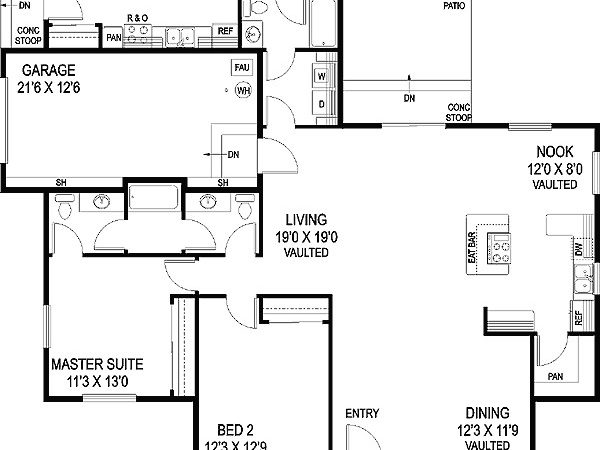Ranch Home Plans Inlaw Apartment Cottage House