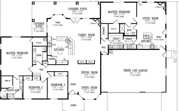 Ranch Home Plans Inlaw Quarters Cottage House