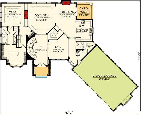Ranch Home Plans Walkout Basement Cottage House
