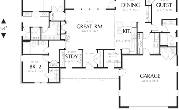 Ranch House Plan Bedrooms Baths