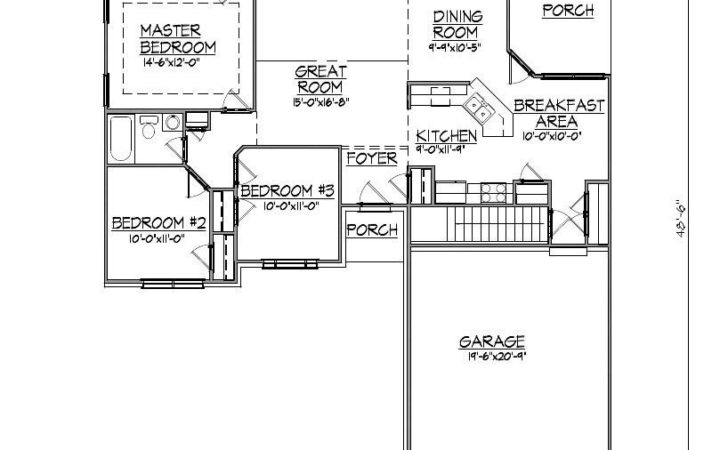 Ranch House Plan Garage Basement