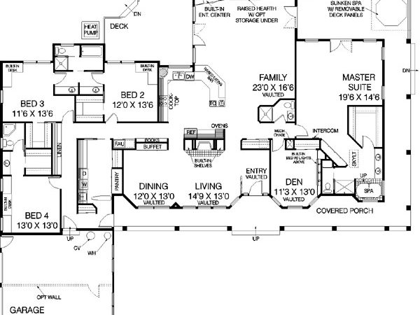 Ranch Style House Plan Beds Baths