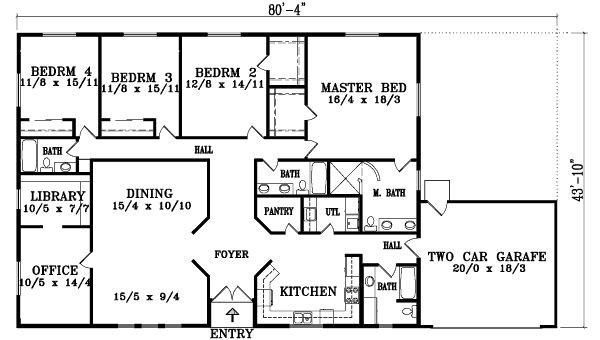 Ranch Style House Plans Bedroom Design Ideas