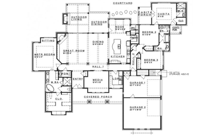 Ranch Style House Plans Bedroom Home Design