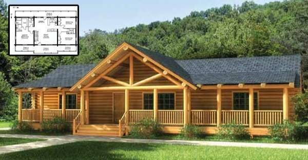 Ranch Style Log Home Must Floor Plans