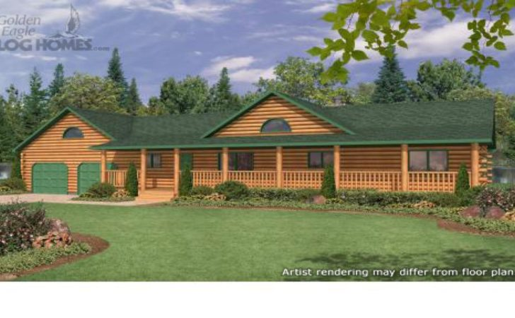 Ranch Style Log Home Plans Homes Wrap